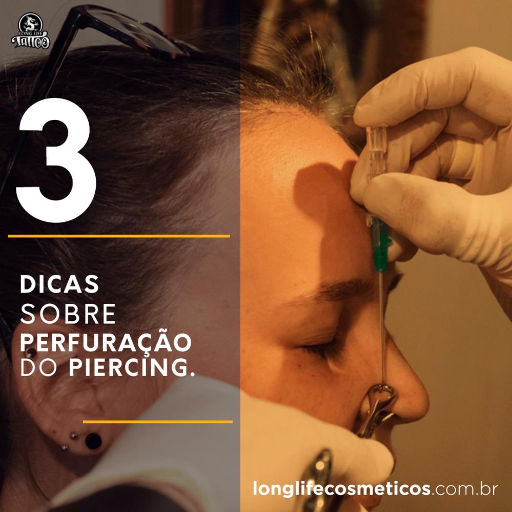 3 dicas perfuração piercing