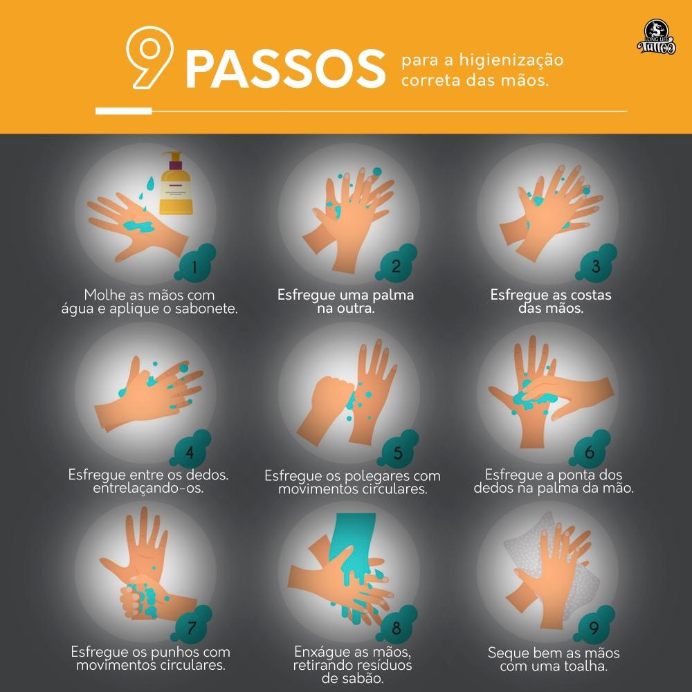 9 PASSOS- lavar a mão