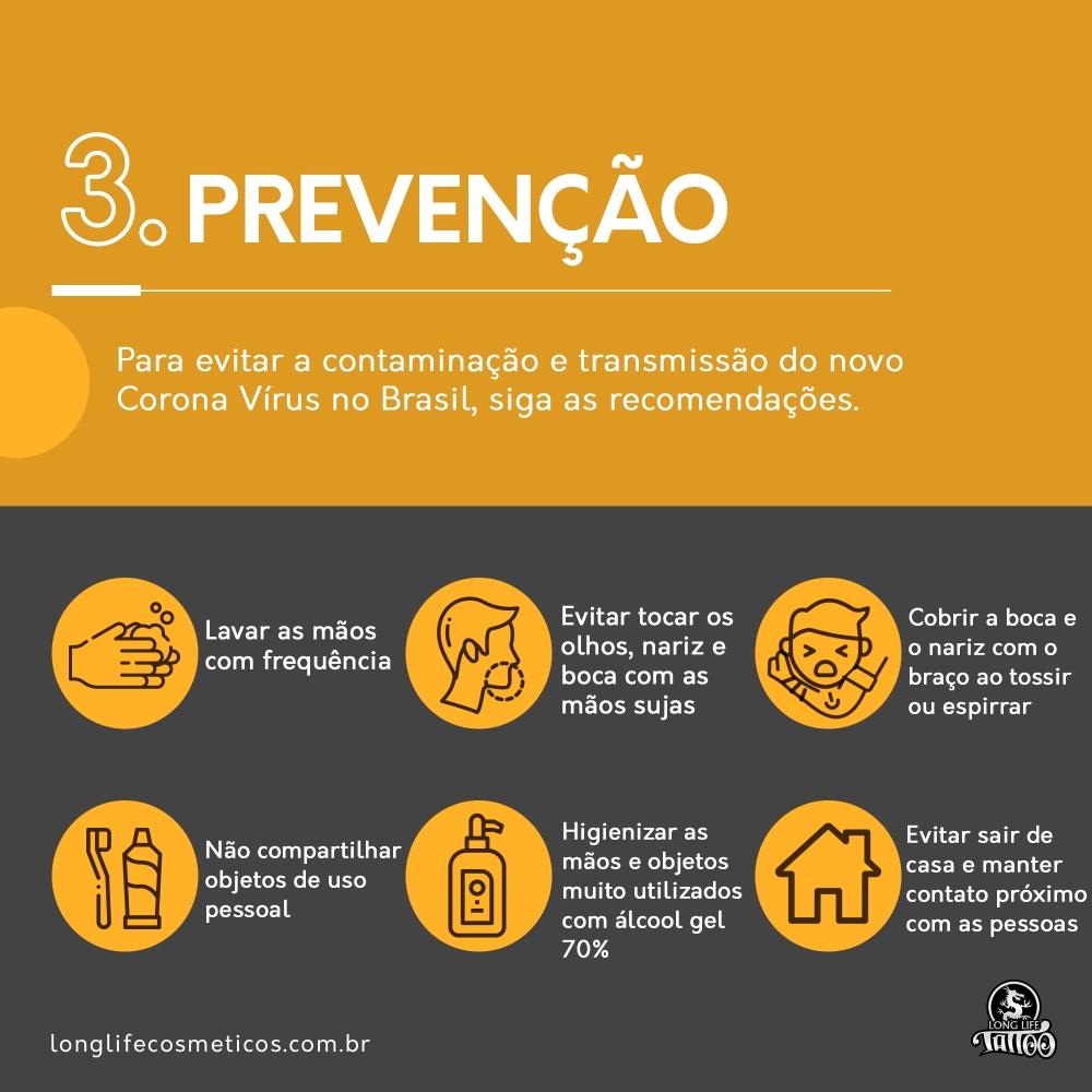 Corona virus - prevenção